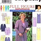 Simplicity Sewing Pattern 8003 Women's Plus Size 18W-24W Straight Sleeveless Dress Jacket