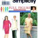 Simplicity Sewing Pattern 8063 Women's Plus Size 18W-24W Straight Skirt Dress Tunic Top