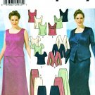 Simplicity Sewing Pattern 5973 Women's Plus Size 18W-24W Formal Two-Piece Dress Tops Skirts