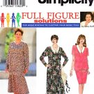 Simplicity Sewing Pattern 9124 Women's Plus Size 18W-24W Two Piece Dress Pullover Top Skirt