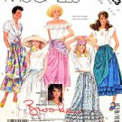 McCalls Sewing Pattern 3123 M3123 Misses Size 10-14 Brooke Shields Gathered Skirts Tucks Ruffles