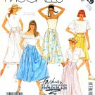 McCall's Sewing Pattern 3129 Misses' Size 6-8 Basic Gathered Yoked Skirt Side Pockets