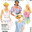 McCall's Sewing Pattern 3131 Misses' Size 6-10 Easy Button Front Blouse Camisole