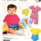 McCall's Sewing Pattern 3139 Infants Baby Boy Girl Size S-L Knit Shirt Pants Diaper Cover