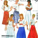 McCall's Sewing Pattern 2037 Misses' Size 12 Easy Yoked Skirts Gathered Pleated Flared