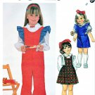 McCall's Sewing Pattern 2059 Girls' Size 3 Gathered Skirt Jumper Overalls Blouse Sleeve Variations
