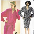 McCall's Sewing Pattern 2068 Misses' Size 14 Liz Claiborne Long Sleeve Mock Wrap Dress