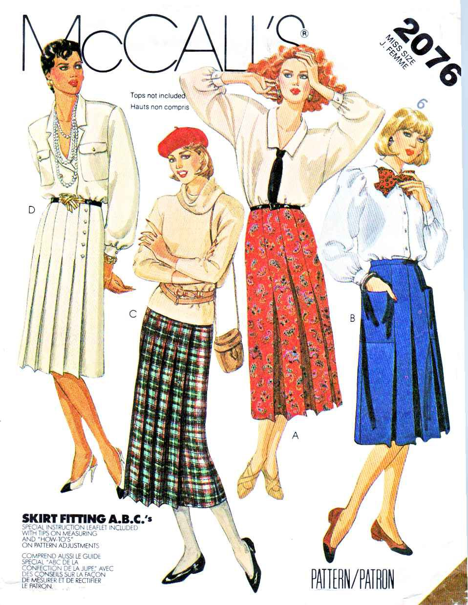 McCall�s Sewing Pattern 2076 Misses� Size 8 Classic Pleated Wrap Skirts Two Lengths