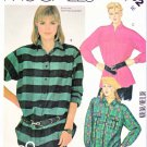 McCall's Sewing Pattern 2102 Misses' Size 16 Button Front Long Sleeve Shirts Hem Pocket Options