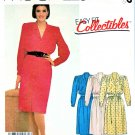 McCall's Sewing Pattern 2165 Misses' Size 12 Pullover Long Sleeve Front Button Bodice Dress