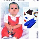 McCall's Sewing Pattern 2217 Infants' Baby Size 14-32#  Shirt Overalls Jumper Hanging Toy