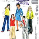McCall's Sewing Pattern 2366 Girls' Size 12-16 Knit Wardrobe Pants Skirts Vest Jacket Hoodie