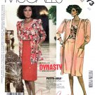 McCall's Sewing Pattern 2373 Misses Size 10 Diahann Carroll Dynasty Coat Jacket Top Wrap Skirt