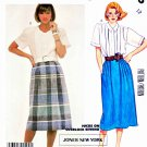 McCall's Sewing Pattern 2375 Misses' Size 12 Classic Button Front Blouses Straight Pleated Skirt