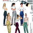 McCall's Sewing Pattern 2487 Misses' Sizes 14-18 Easy Long Pants Attached Overskirt Pocket