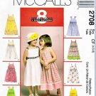 McCall's Sewing Pattern 2708 Girls' Size 4-6 Easy Summer Sleeveless High Waist Dress Sundress