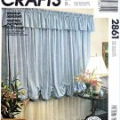 McCall's Sewing Pattern 2861 Window Dressing Valance Curtains Drapery Drapes Blinds