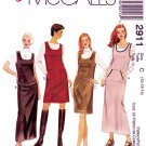 McCall's Sewing Pattern 2911 Misses Size 12-16 Easy Straight Jumper Pocket Bag Options