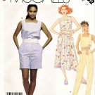 McCall's Sewing Pattern 3102 Misses' Size 10 Easy Summer Sleeveless Dress Jumpsuit