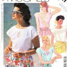 McCall's Sewing Pattern 3121 M3121 Misses' Size 10-12 Easy Pullover Extended Sleeve Summer Tops