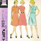 Retro McCalls Sewing Pattern 3123 M3123 Misses Size 16 Short Sleeve Princess Seam Dress Jacket