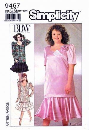 Simplicity Sewing Pattern 9457 Women\'s Plus Size 26W-32W Two Piece ...