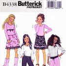 Butterick Sewing Pattern 4338 Girls Size 7-8-10 Easy Pullover Long Sleeve Top A-Line Skirt Pants