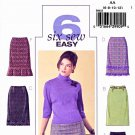 Butterick Sewing Pattern 4613 Misses Size 6-8-10-12 Easy Classic Straight Skirt Hemline Variations