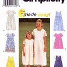 Simplicity Sewing Pattern 8030 Girls Size 8-14 Easy Summer Short Sleeve Sleeveless Dress