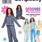 Simplicity Sewing Pattern 8911 Junior Size 11/12-15/16 Pajamas Pants Shorts Shirt Tank Top Camisole
