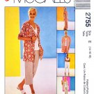McCall's Sewing Pattern 2755 Misses Size 14-18 Easy Wardrobe Jacket Dress Cropped Pants Top Shorts
