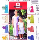 McCall's Sewing Pattern 3108 M3108 Girls Size 7-10 Easy Summer Sleeveless Dress Short Sleeve Jacket