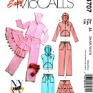 McCall's Sewing Pattern 4707 Junior Size 3/4-9/10 Easy Zipper Front Hooded Jacket Vest Skirt Pants