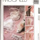 McCall's Sewing Pattern 2058 Alicyn Bridal Wedding Accessories Garter ring Pillow Purse Gloves Mitts