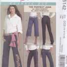 McCall's Sewing Pattern 5142 Misses Size 20-26 Classic Fit Perfect Blue Jeans Cropped Ankle Length