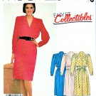 McCall's Sewing Pattern 2165 Misses' Size 16 Pullover Long Sleeve Front Button Bodice Dress