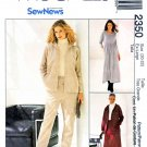 McCall's Sewing Pattern 2350 Misses Size 12-14 Easy SewNews Knit Pants Skirt Dress Jacket