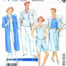 McCall's Sewing Pattern 3005 Misses' Size 8 Easy Wardrobe Duster Jacket Top Wrap Skirt