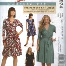 McCall's Sewing Pattern 5974 M5974 Womens Plus Size 18W-24W Classic Fit Knit Mock Front Wrap Dress
