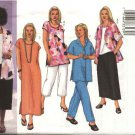 Butterick Sewing Pattern 3039 Womans Plus Size 28W-32W Easy Wardrobe Shirt Top Dress Skirt Pants