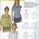 Butterick Sewing Pattern 5538 B5538 Womens Plus Size 18W-44W Easy Button Front Blouse Sleeve Options