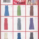 Butterick Sewing Pattern 6334 B6334 Misses Size 6-10 Easy Straight Flared Button Front Jumper