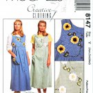 McCall's Sewing Pattern 8147 Misses Size 4-14 Creative Button Front Jumper Ribbon Flowers