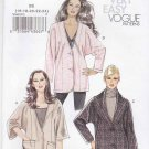 Vogue Sewing Pattern 8695 Misses Size 16-24 Easy Button Front Lined Jacket Collar Sleeve Options