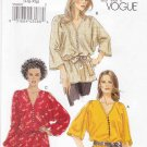 Vogue Sewing Pattern 8668 Misses Size 16-22 Easy Pullover Loose-Fitting Top Tunic