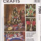 McCall's Sewing Pattern 7290 M7290 630 P490 Western Cowboy Themed Christmas Decorations Ornaments