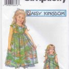 "Simplicity Sewing Pattern 5585 Girls Size 3-6 Daisy Kingdom Dress Slip and 18"" Doll Dress"
