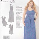 Simplicity Sewing Pattern 1800 Womens Plus Size 20W-28W Raised Waist Dress Sleeve Options