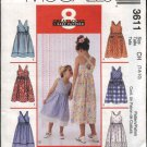McCall's Sewing Pattern 3611 Girls Size 3-6 Easy Sundress Summer Dress