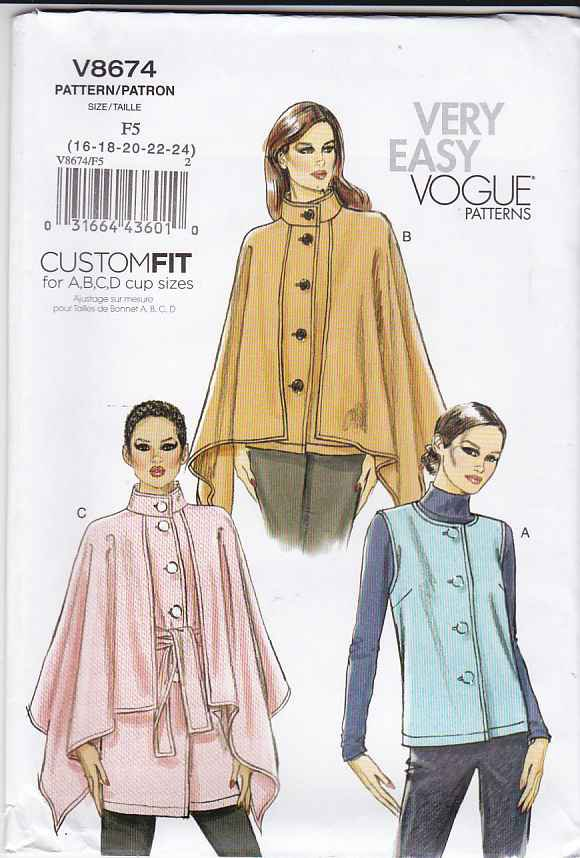 Vogue Sewing Pattern 8674 Misses Size 8 14 Easy Button